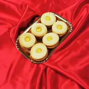 Biscotti occhi di bue al limone